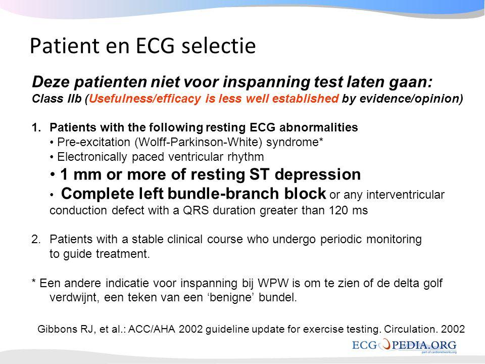 Patient en ECG selectie