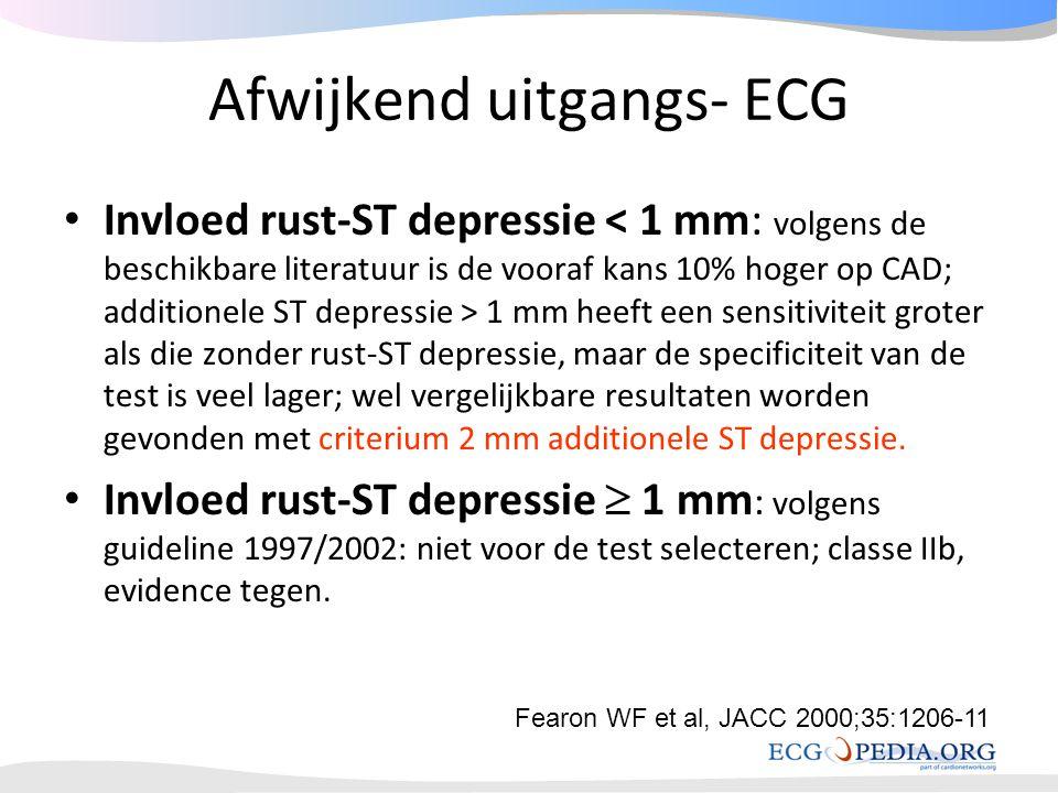 Afwijkend uitgangs- ECG