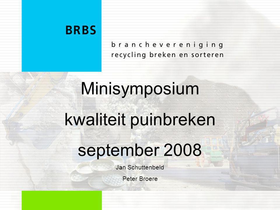 Minisymposium kwaliteit puinbreken