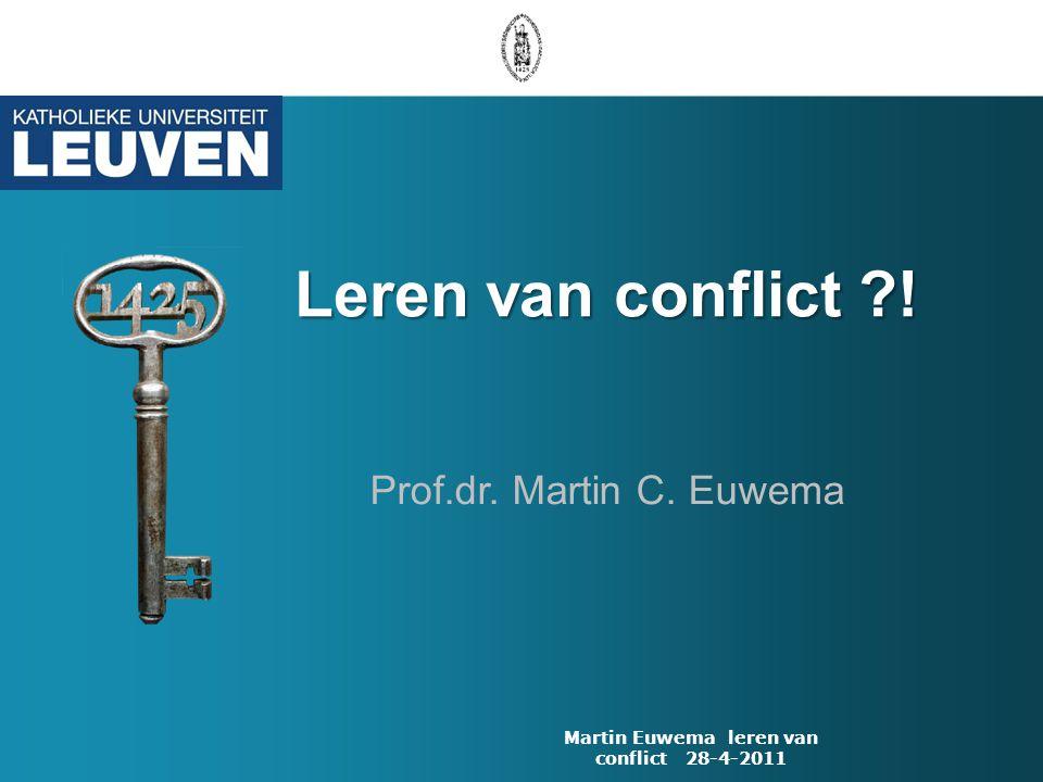 Martin Euwema leren van conflict 28-4-2011