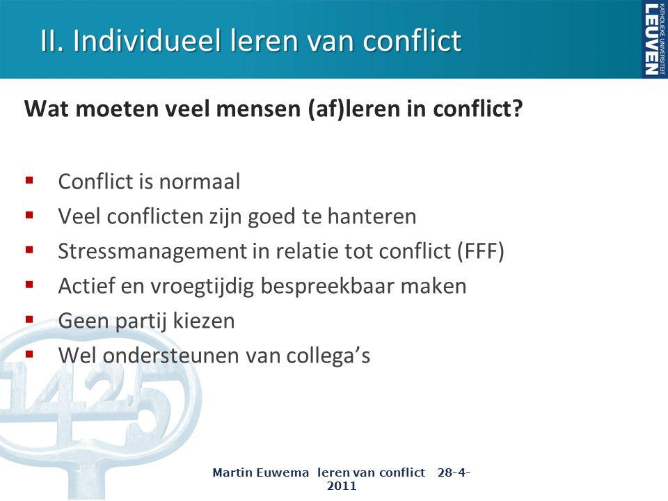 II. Individueel leren van conflict