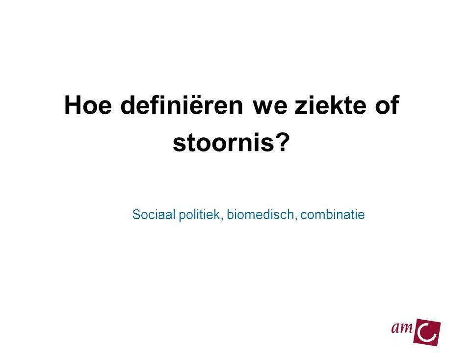 Hoe definiëren we ziekte of stoornis