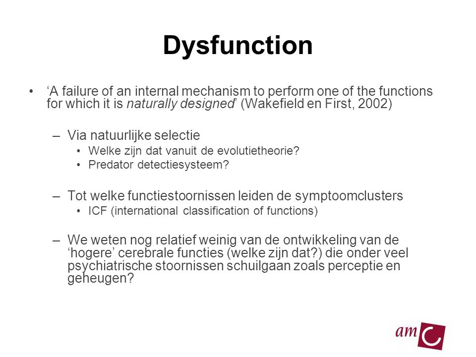13/06/2007 Dysfunction.