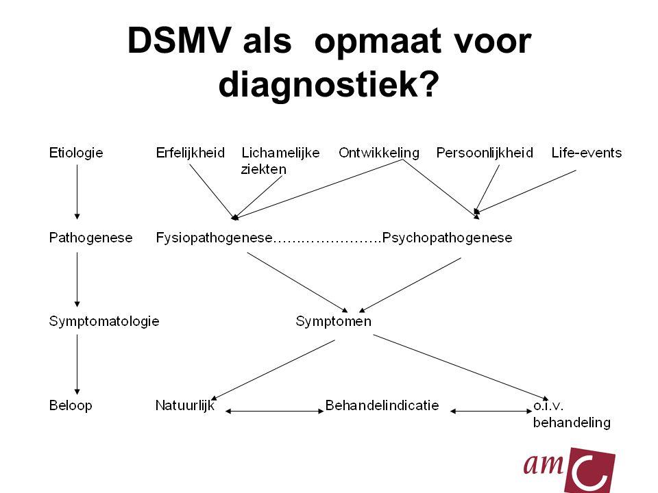 DSMV als opmaat voor diagnostiek