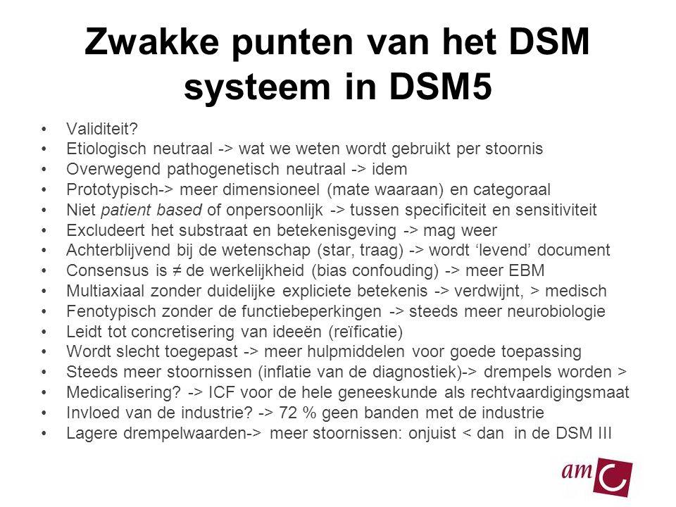 Zwakke punten van het DSM systeem in DSM5