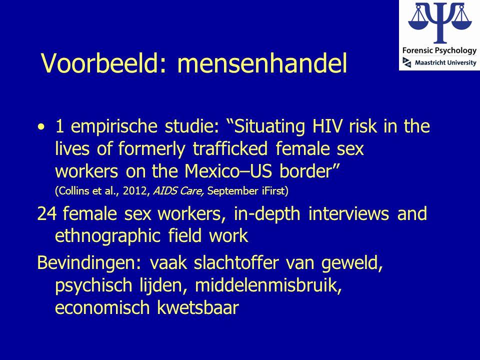 Voorbeeld: mensenhandel