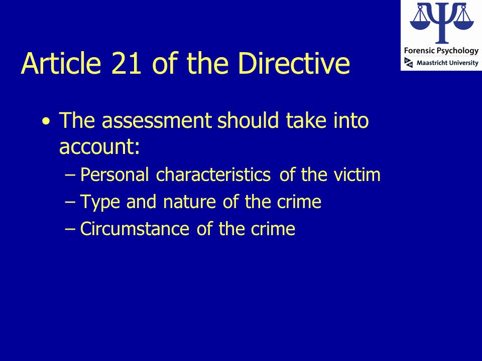 Article 21 of the Directive