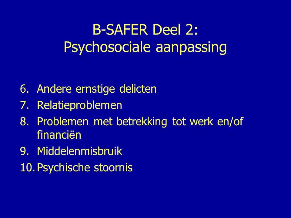 B-SAFER Deel 2: Psychosociale aanpassing