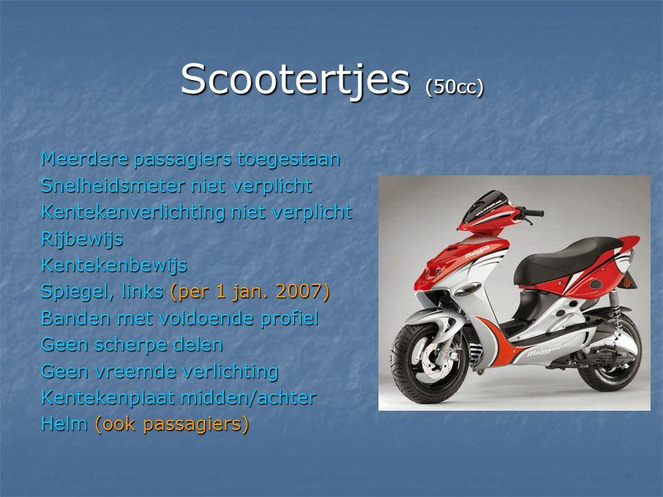 Scootertjes (50cc) Meerdere passagiers toegestaan
