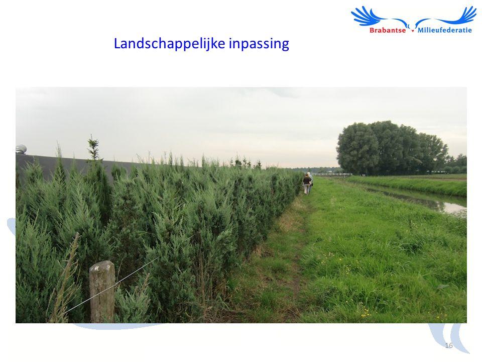 Landschappelijke inpassing