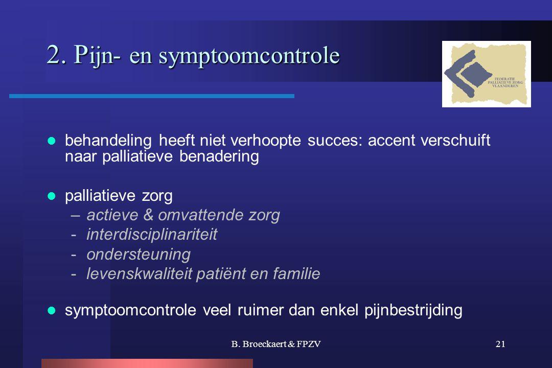 2. Pijn- en symptoomcontrole