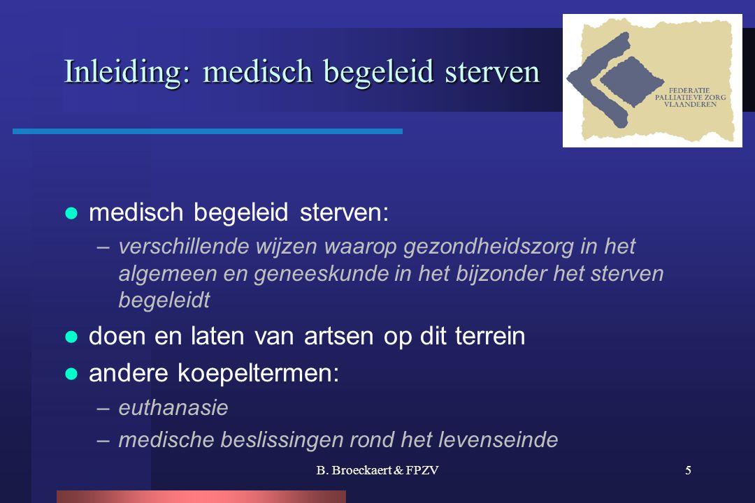 Inleiding: medisch begeleid sterven