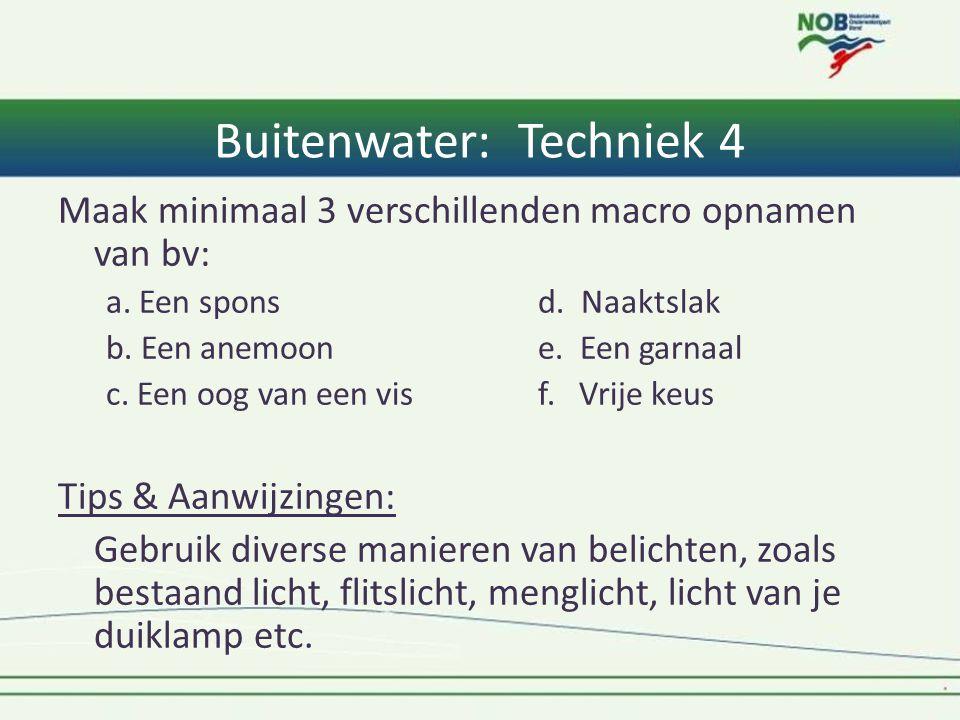 Buitenwater: Techniek 4