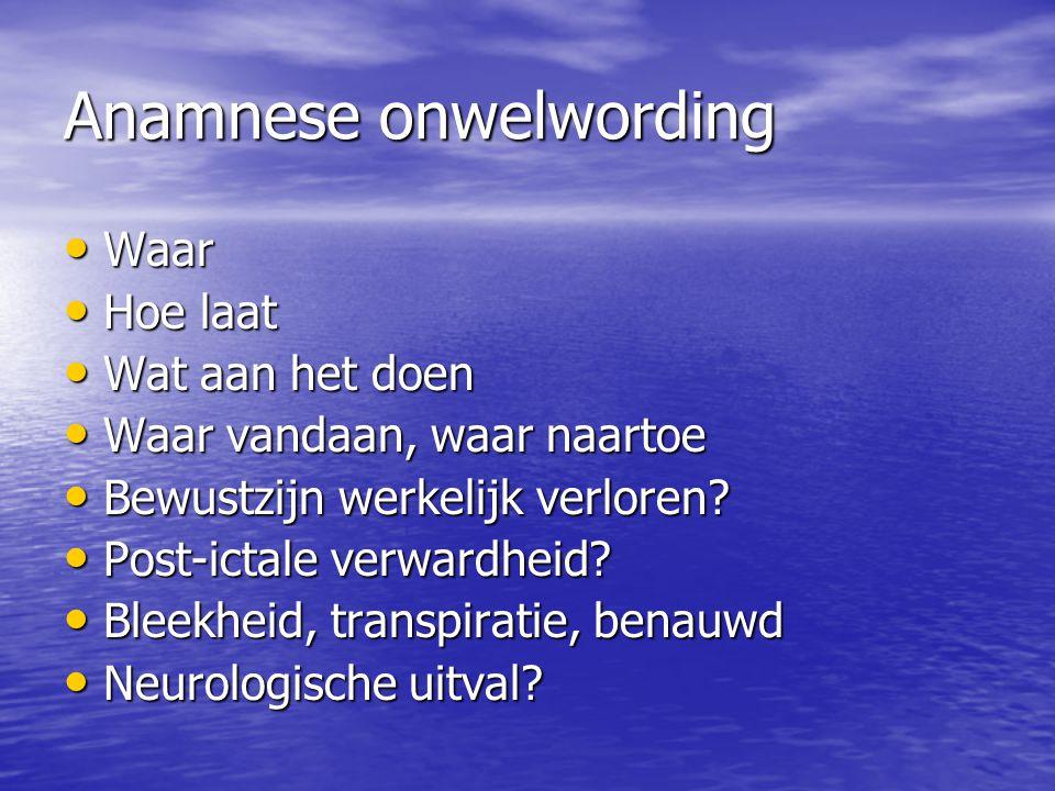 Anamnese onwelwording