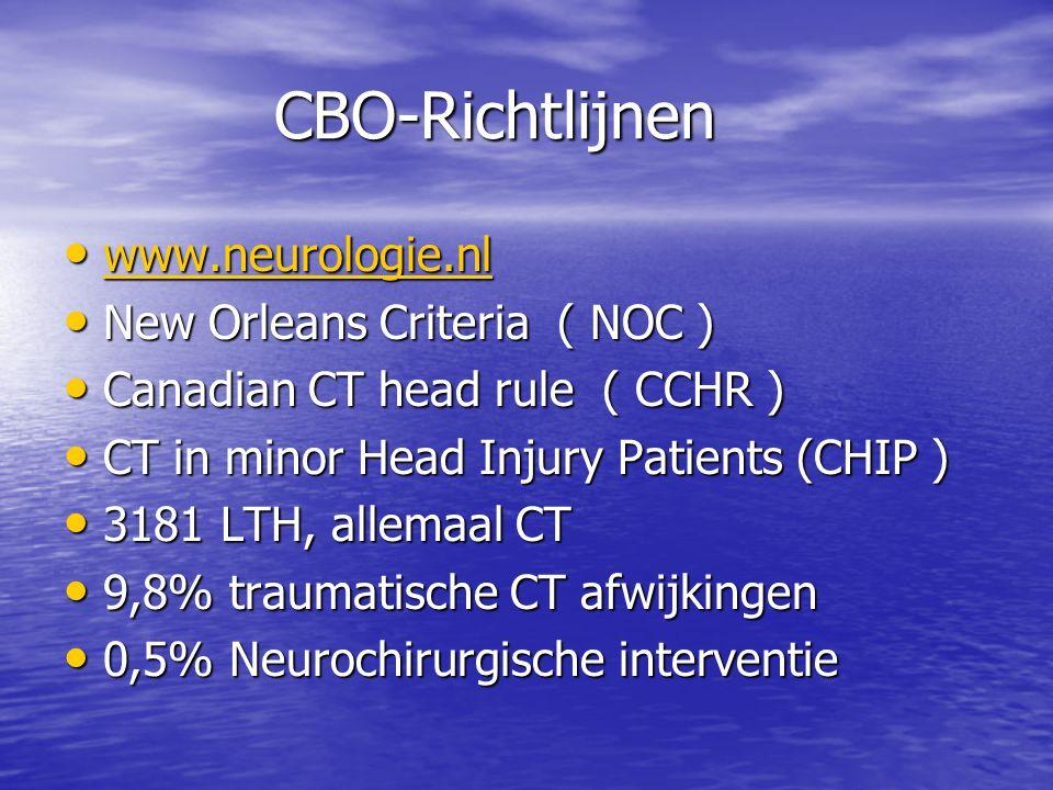 CBO-Richtlijnen www.neurologie.nl New Orleans Criteria ( NOC )