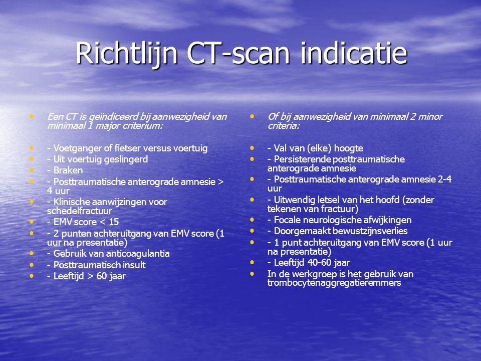 Richtlijn CT-scan indicatie