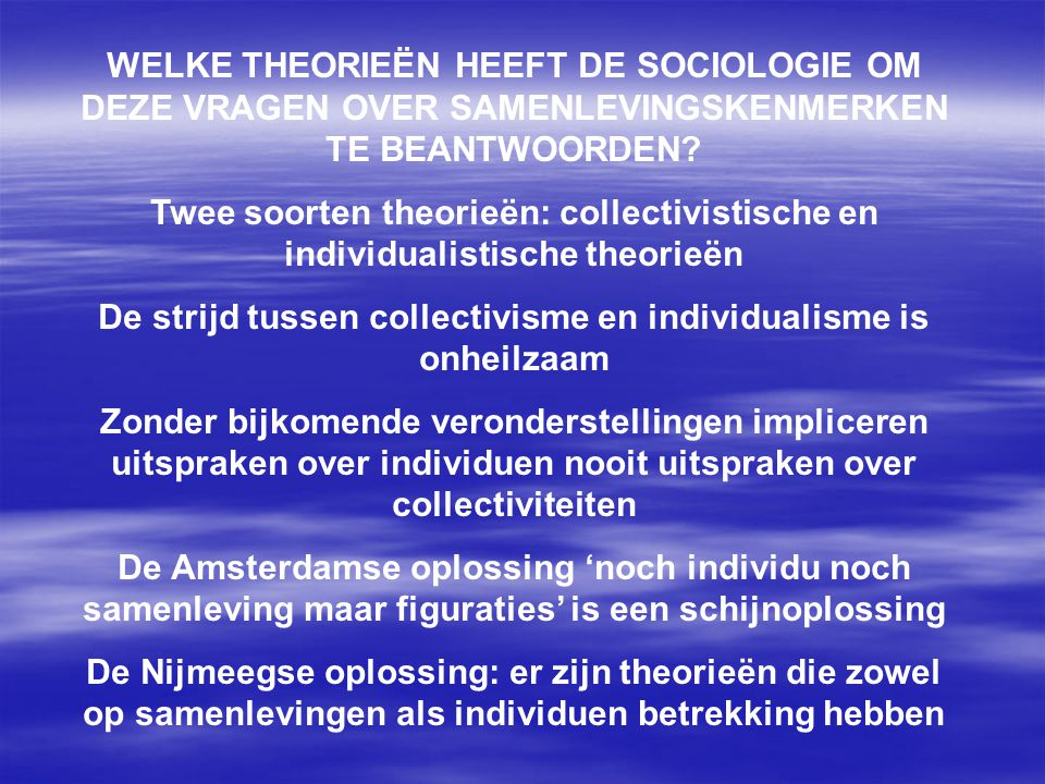 De strijd tussen collectivisme en individualisme is onheilzaam