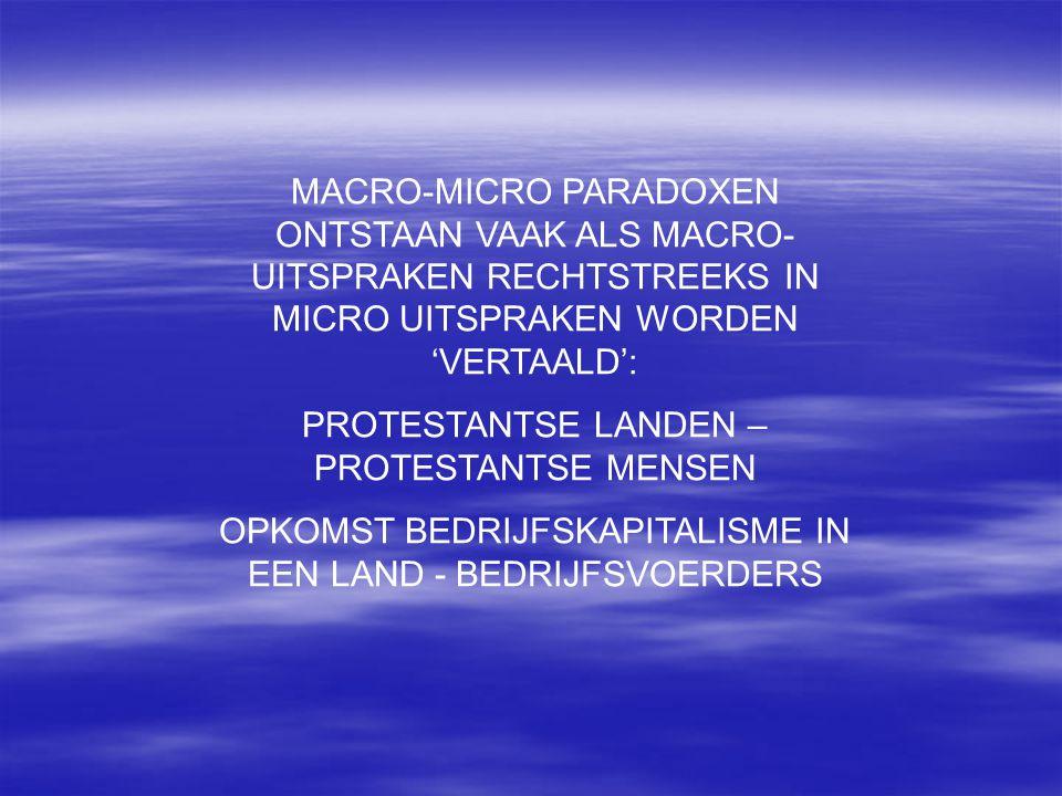 PROTESTANTSE LANDEN – PROTESTANTSE MENSEN