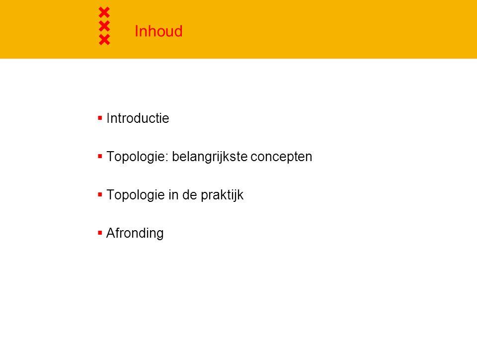 Inhoud Introductie Topologie: belangrijkste concepten