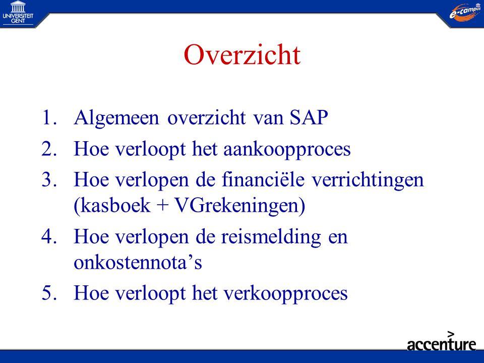 Overzicht Algemeen overzicht van SAP Hoe verloopt het aankoopproces