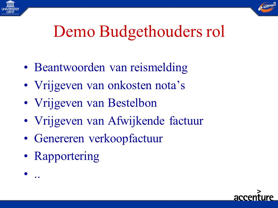 Demo Budgethouders rol
