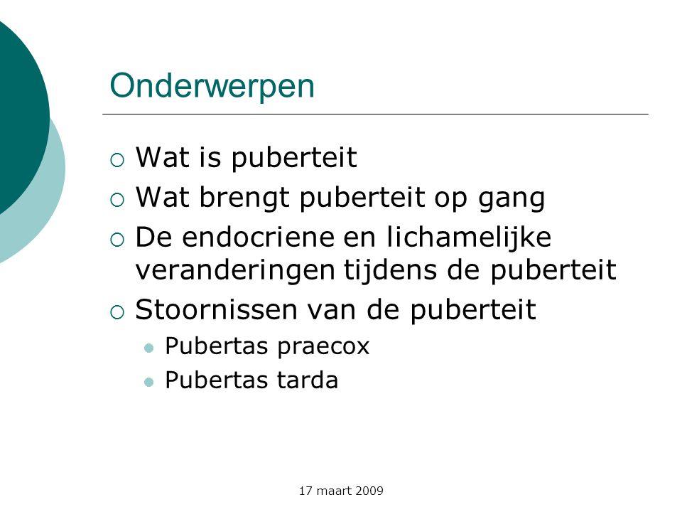 Onderwerpen Wat is puberteit Wat brengt puberteit op gang