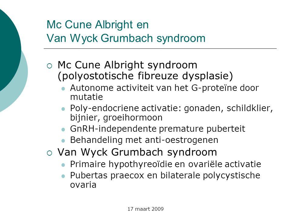 Mc Cune Albright en Van Wyck Grumbach syndroom