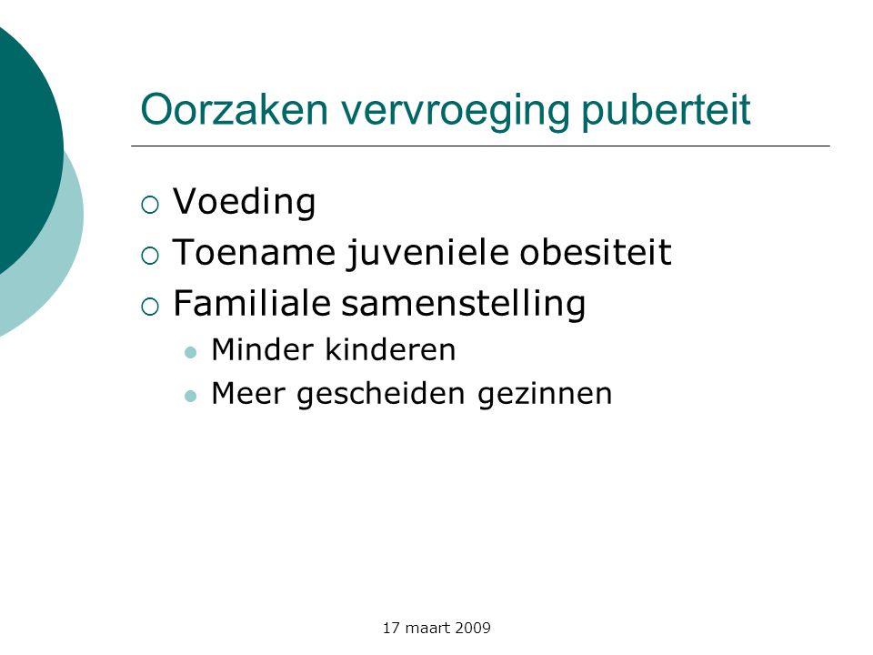 Oorzaken vervroeging puberteit