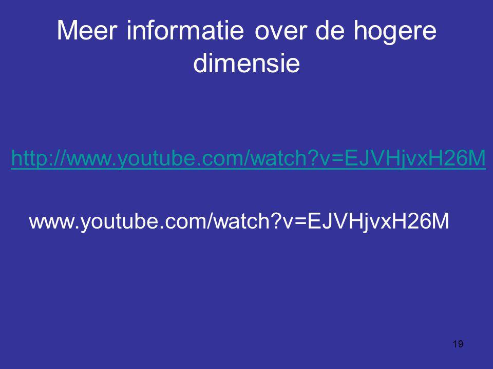 Meer informatie over de hogere dimensie