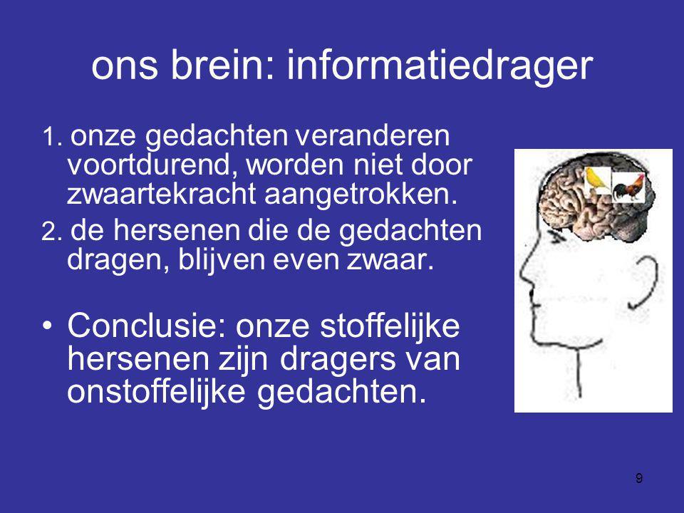 ons brein: informatiedrager