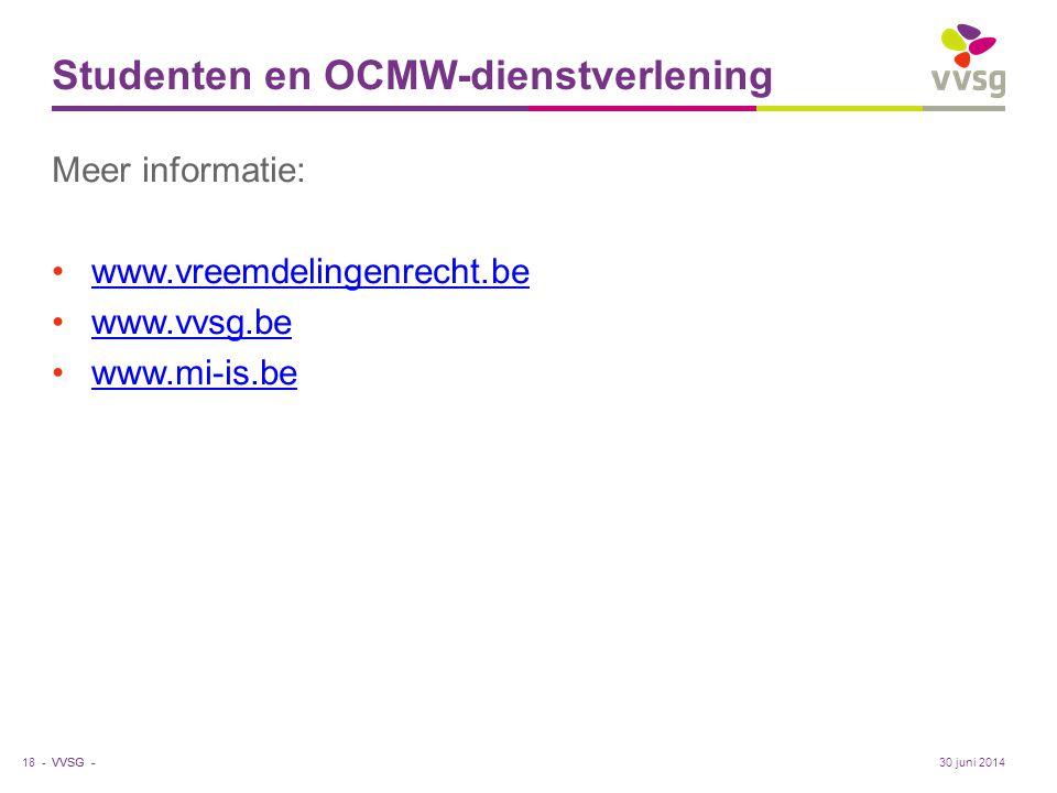 Studenten en OCMW-dienstverlening
