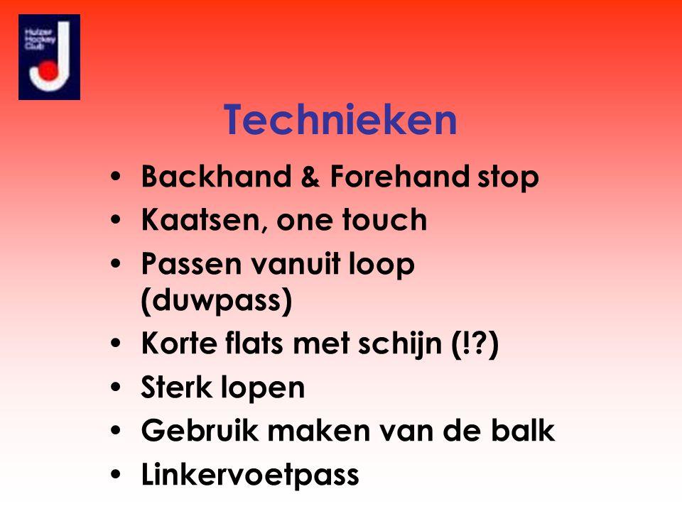 Technieken Backhand & Forehand stop Kaatsen, one touch