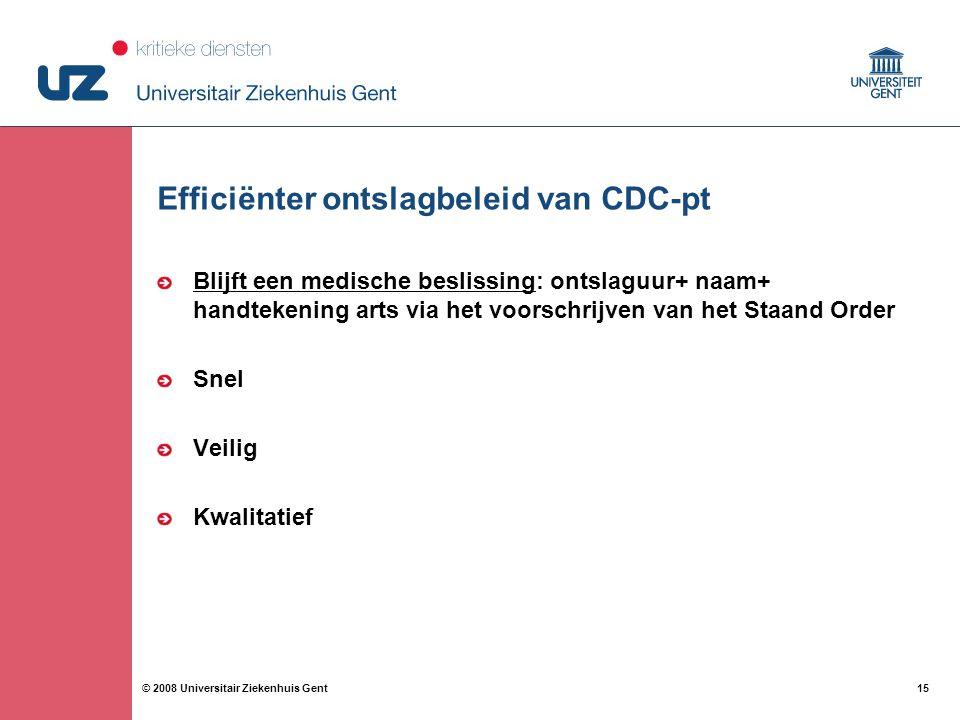 Efficiënter ontslagbeleid van CDC-pt