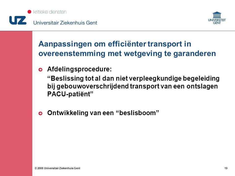 Aanpassingen om efficiënter transport in overeenstemming met wetgeving te garanderen
