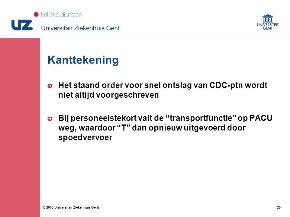 Kanttekening Het staand order voor snel ontslag van CDC-ptn wordt niet altijd voorgeschreven.