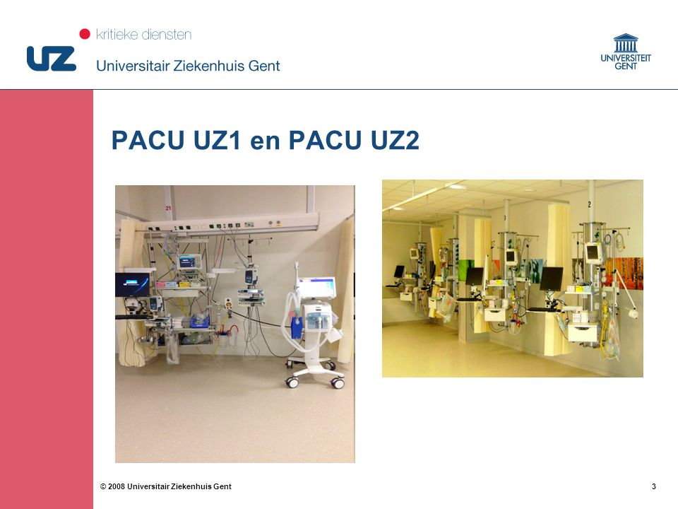 PACU UZ1 en PACU UZ2