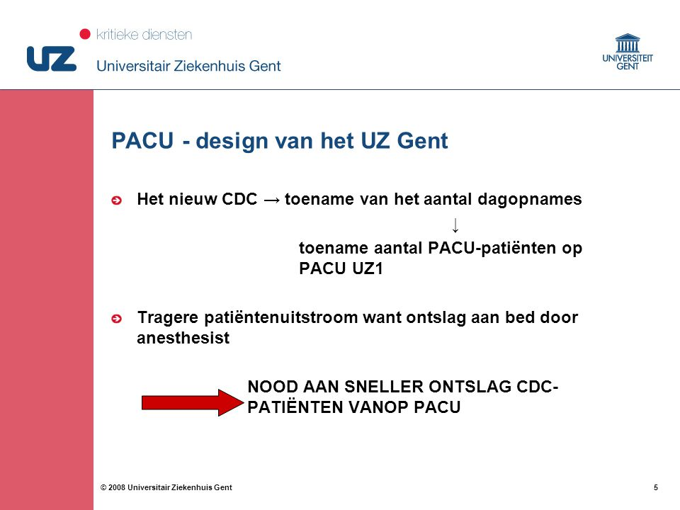 PACU - design van het UZ Gent