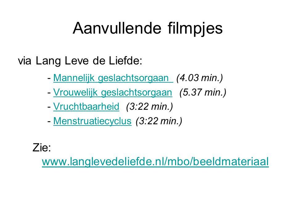 Aanvullende filmpjes via Lang Leve de Liefde: