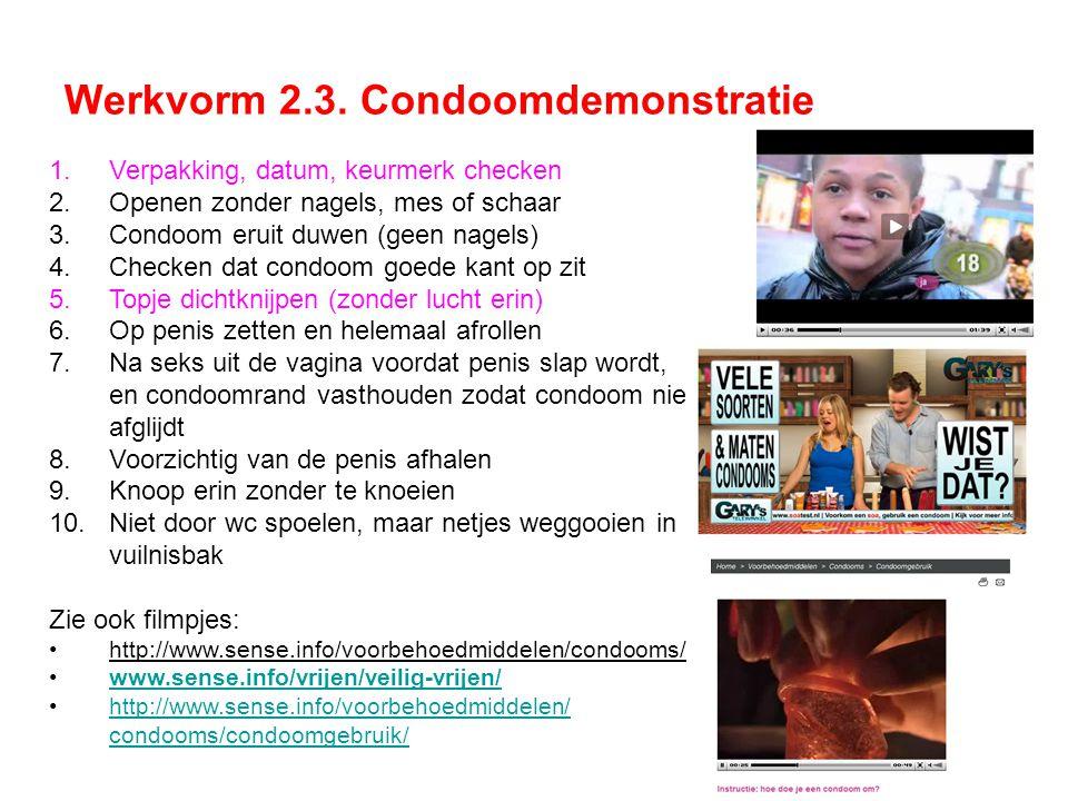 Werkvorm 2.3. Condoomdemonstratie