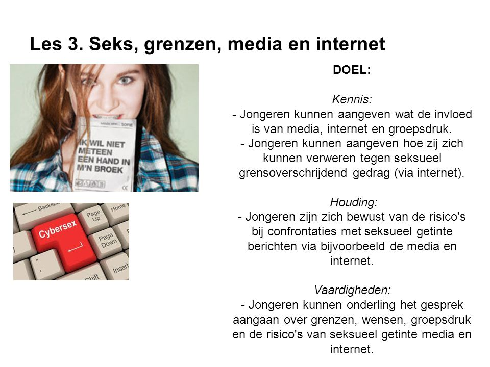Les 3. Seks, grenzen, media en internet