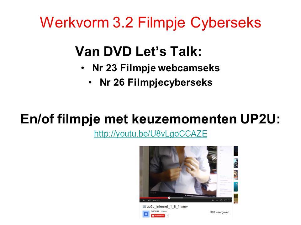 Werkvorm 3.2 Filmpje Cyberseks