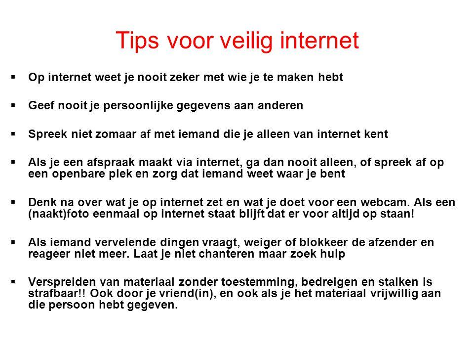 Tips voor veilig internet