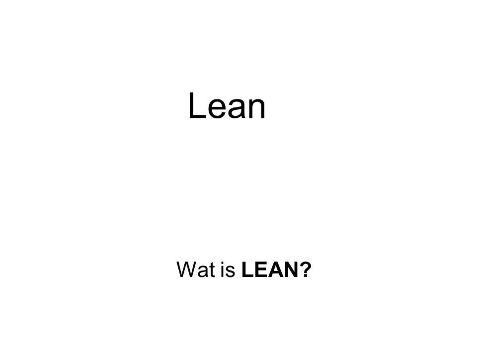 Lean Wat is LEAN