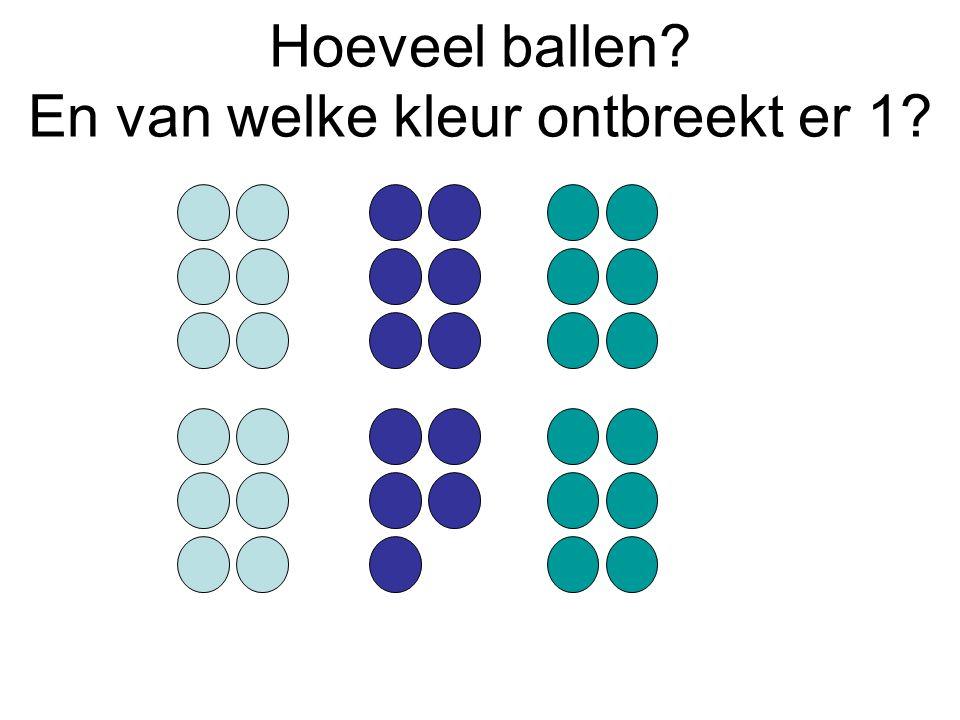 Hoeveel ballen En van welke kleur ontbreekt er 1