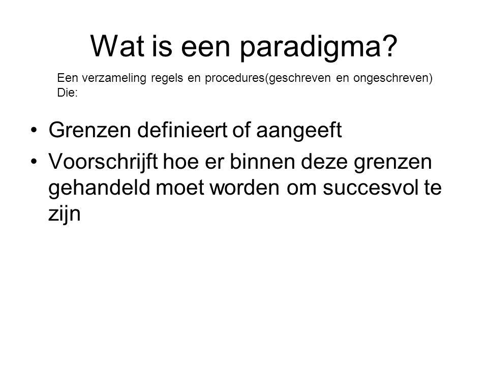Wat is een paradigma Grenzen definieert of aangeeft