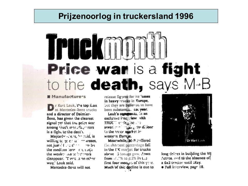 Prijzenoorlog in truckersland 1996