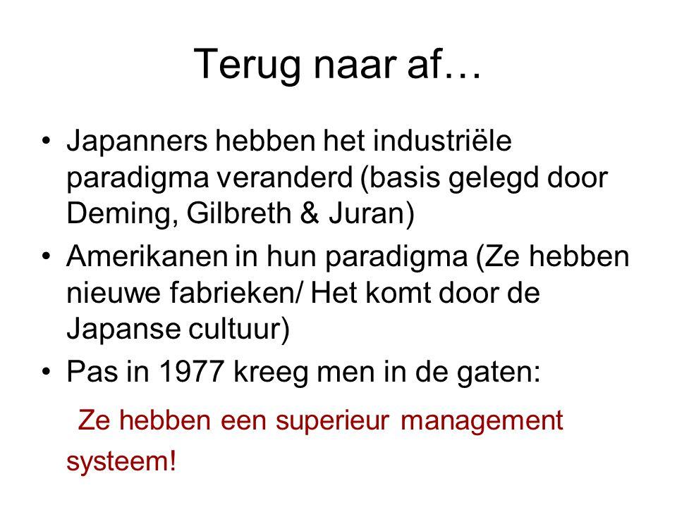 Terug naar af… Ze hebben een superieur management systeem!