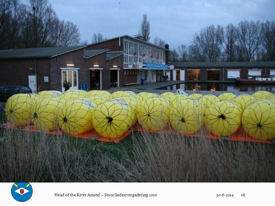 De wedstrijd (boeien 4) Head of the River Amstel – Stuurliedenvergadering 2010 3-4-2017