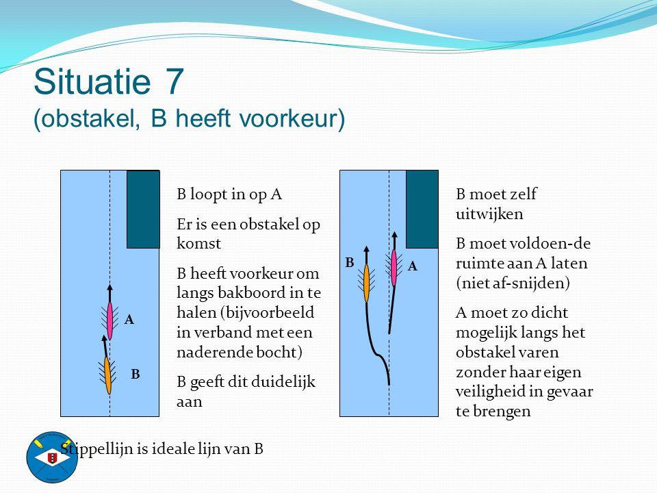Situatie 7 (obstakel, B heeft voorkeur)