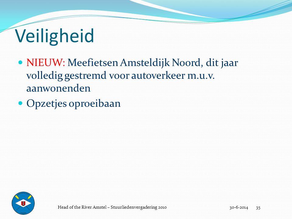 Veiligheid NIEUW: Meefietsen Amsteldijk Noord, dit jaar volledig gestremd voor autoverkeer m.u.v. aanwonenden.